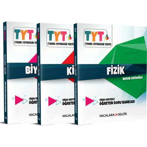 TYT Hocalara Geldik Fen Bilimleri Soru Bankası Seti 3 Kitap