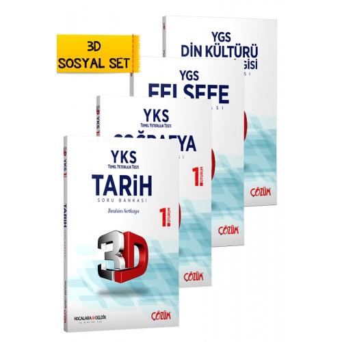 TYT (YKS) 3D Sosyal Set 4 Kitap