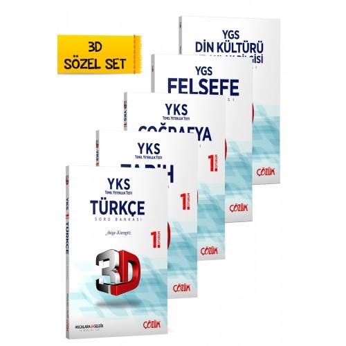 TYT (YKS) 3D Sözel Set 5 Kitap